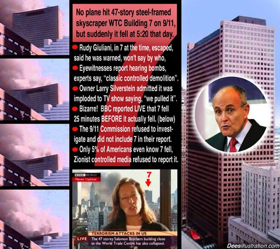 World Trade Center Building Number 7 -- Never Hit By a Plane ... Collapses in It's Own 'Footprint' -- Exactly as In a 'Controlled Demolition.'