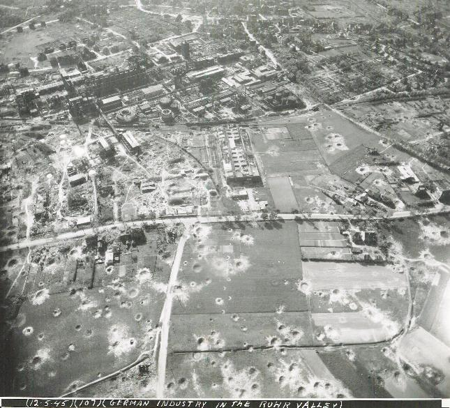 German Industrial Area After Bombing, before Plundering