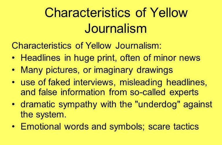 defining yellow journalism Yellow journalism is an unflattering term used to defines yellow press newspapers as having daily yellow journalism: puncturing the myths, defining the.