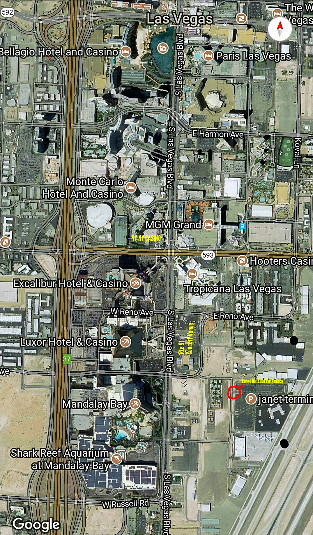 Aerial Photo Maps Of Las Vegas Massacre Site And Hotels