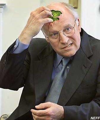 Cheney deranged.
