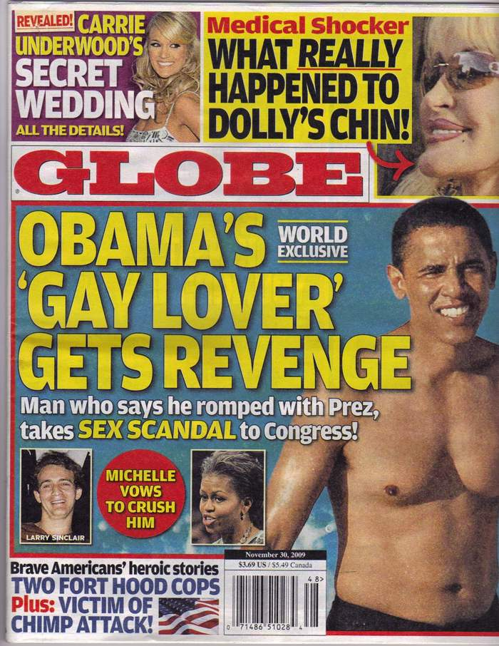 Globe Cover Story - Obama's 'Gay Lover' Gets Revenge From Larry Sinclair