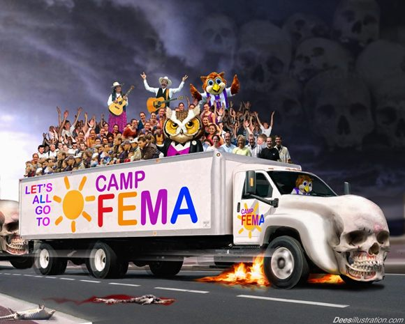 locations of concentration camps. FEMA Concentration Camps:
