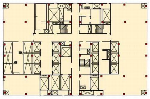 World trade center tower core floor column plan for House plans with columns
