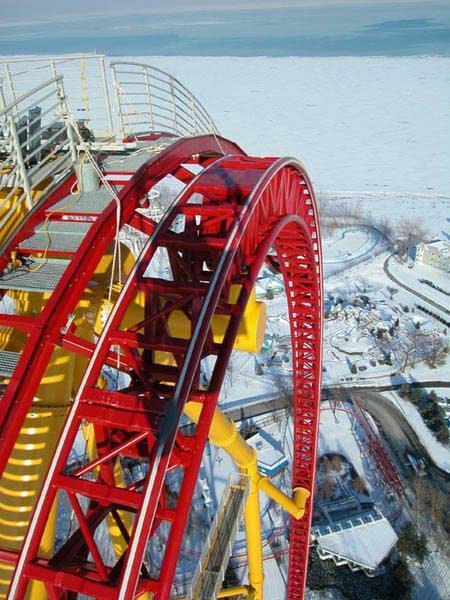 Ohio Record Roller Coaster - 420 Ft High, 120 MPH Down...