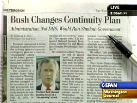 Bush Replaced REX84 With New Martial Law EO Sahdow