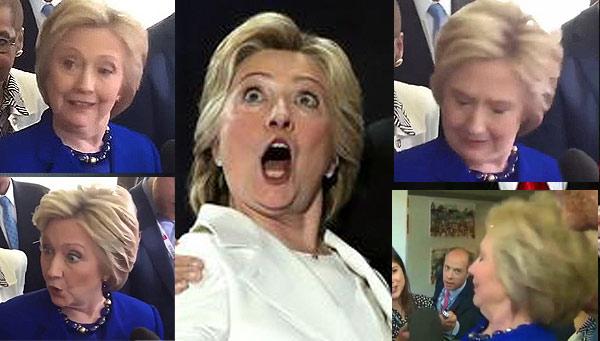 Hillary clinton spaz attack