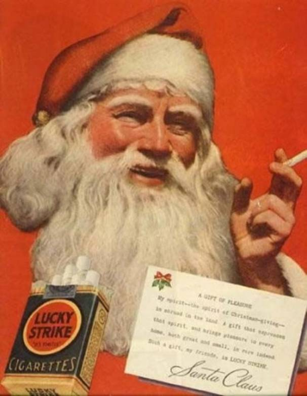 lucky strike is what santa prefers