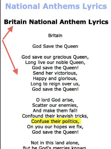 British National Anthem Lyrics